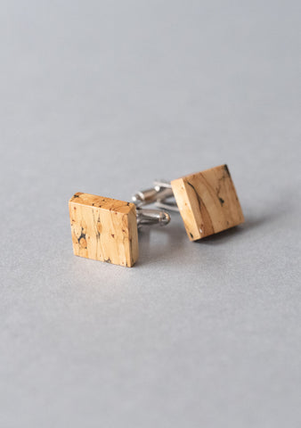 Natural Heather Cufflinks