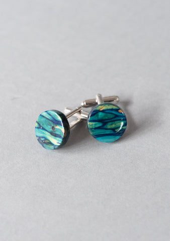 Blue Heather Cufflinks