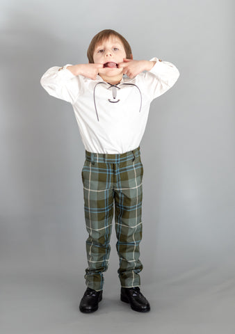 Douglas Weathered Tartan Kids Trews