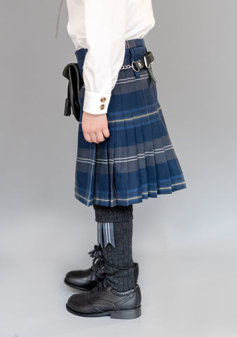 Kids Persevere Moss Navy Kilt Outfit