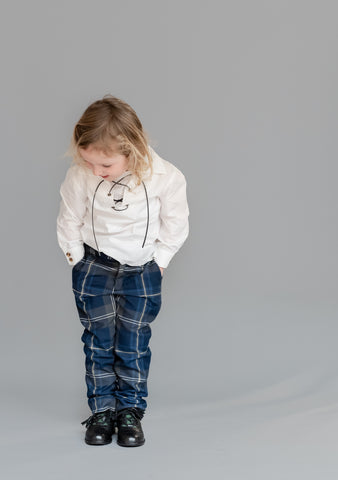 Kids Persevere Moss Navy Trews Outfit