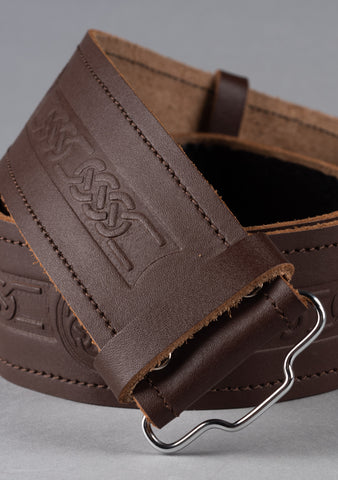 Celtic Leather Kilt Belt