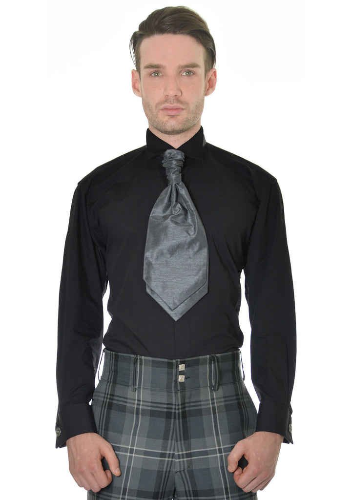 Victorian collar dress shirt with double cuff kilt society for Pin collar shirt double cuff