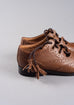 Kids Tan Leather Ghillie Brogues