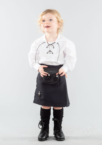 Kids Black Kilt Outfit