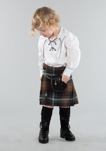 Persevere Weathered Brown Kids Kilt Outfit