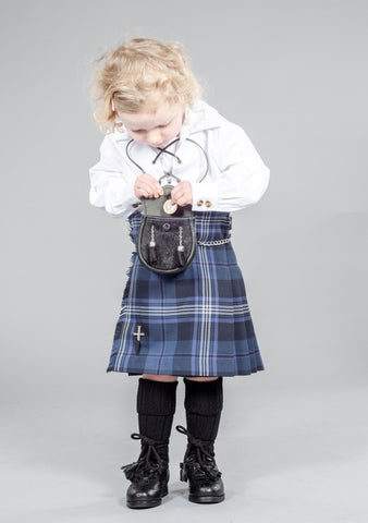 Persevere Thistle Blue Kids Kilt Outfit