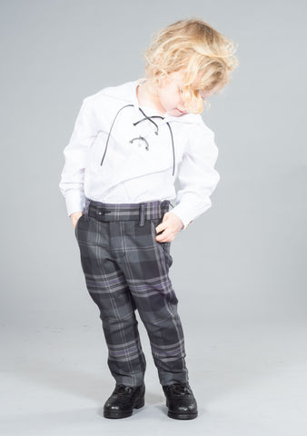 Persevere Flint Grey Tartan Kids Trews