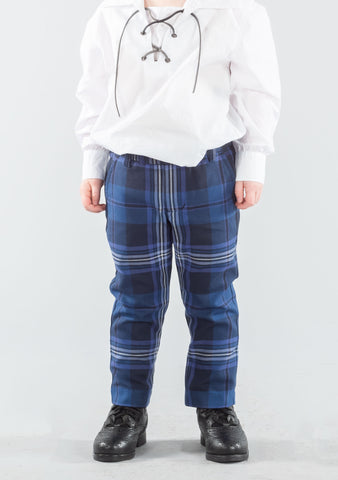 Persevere Thistle Blue Tartan Kids Trews