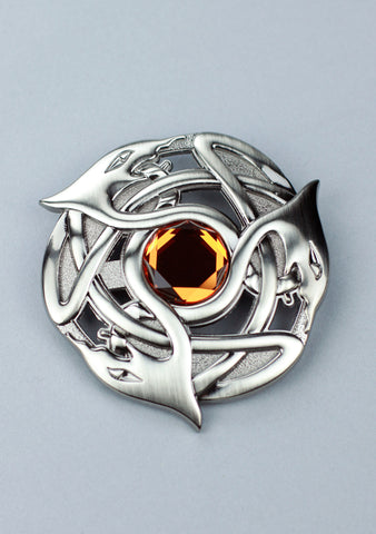 Celtic Serpent Plaid Brooch