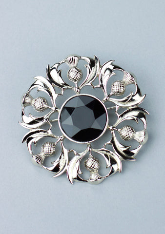 Scottish Thistle Plaid Brooch