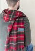 Lambswool Men's Scarf in Dark Maple Tartan