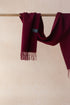 Lambswool Men's Scarf in Berry Burgundy