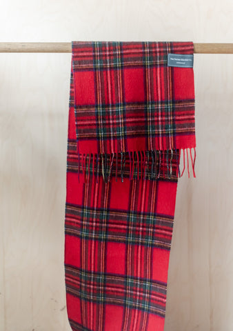 Lambswool Men's Scarf in Stewart Royal Tartan