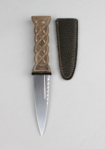 Standard Leather Celtic Sgian Dubh