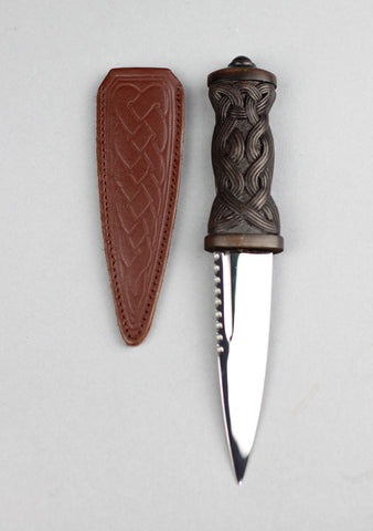 Celtic Brown Daywear Sgian Dubh