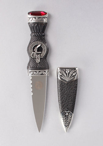 Luxury Thistle Clan Crest Sgian Dubh