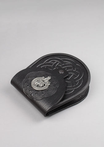 Clan Crest Celtic Embossed Leather Sporran