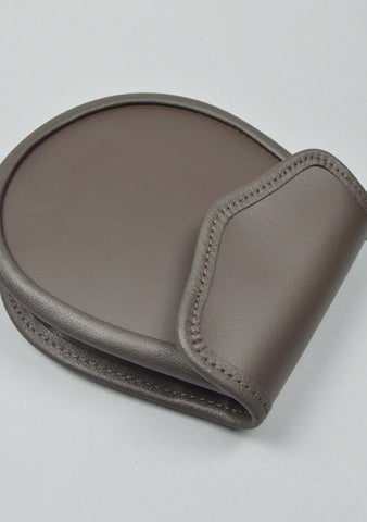 Military Style Plain Brown Leather Sporran