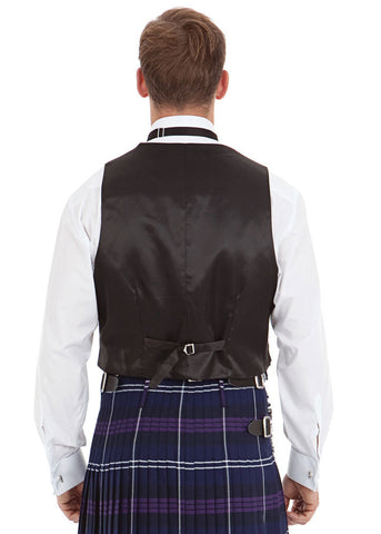 Standard 3 Button Black Prince Charlie Waistcoat