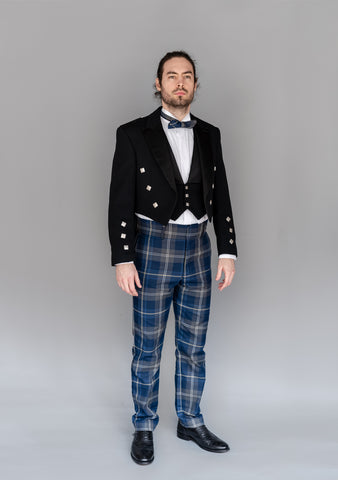 Persevere Moss Navy Prince Charlie Trews Outfit