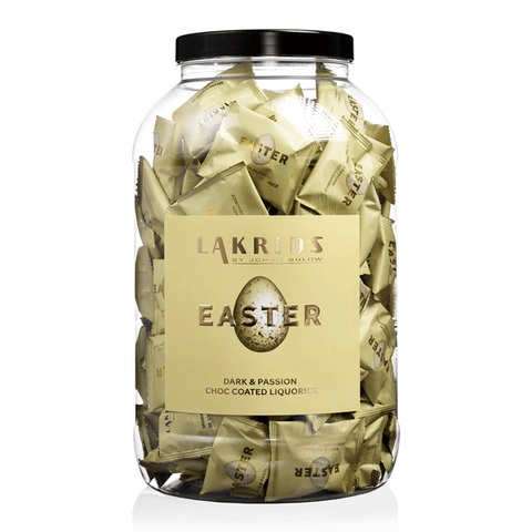 135 x Flowpack EASTER – Dark & Passion Choc Coated Liquorice