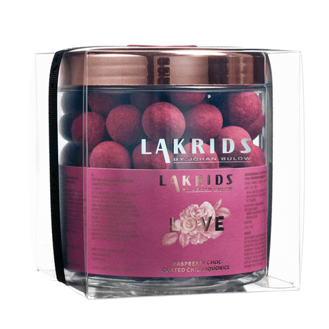 VERY BIG LOVE – Raspberry Choc Coated Chili Liquorice inkl. presentförpackning