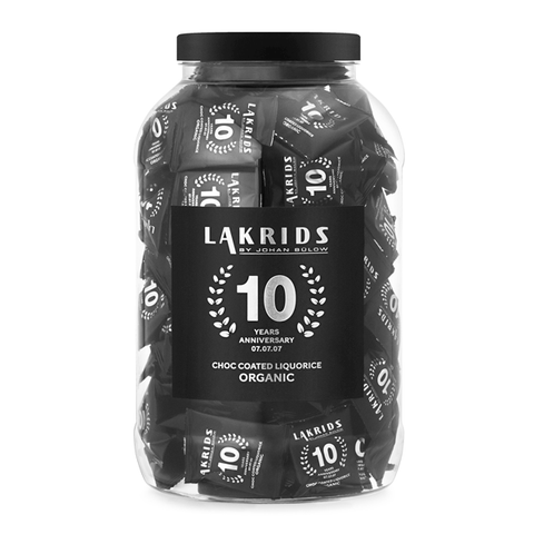 135 x Flowpack 10 Years – Organic Choc Coated Liquorice