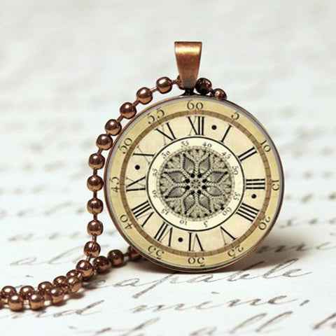 Antique style pendants my handmade this antique vintage old clock nickel free pendant necklace mozeypictures Gallery