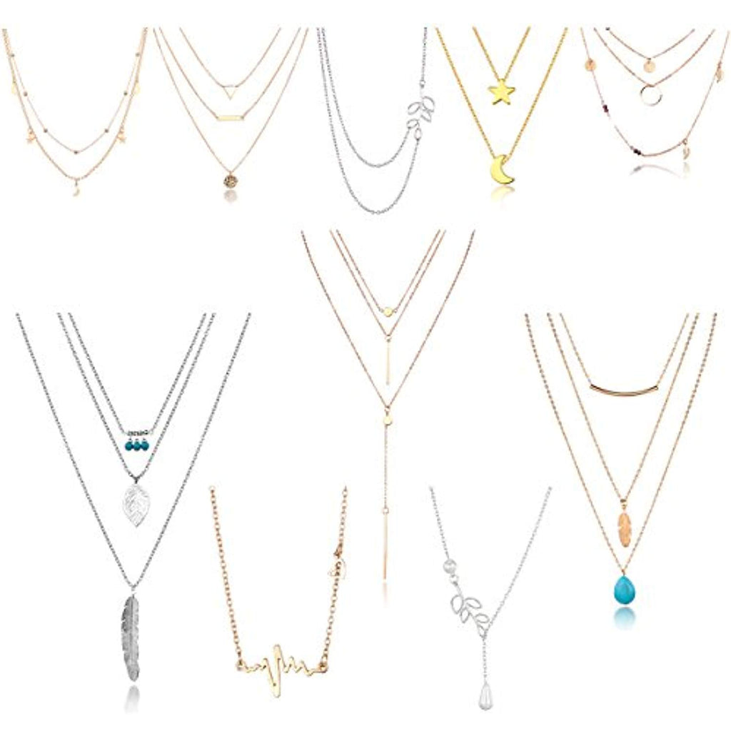 10pcs Layered Necklaces