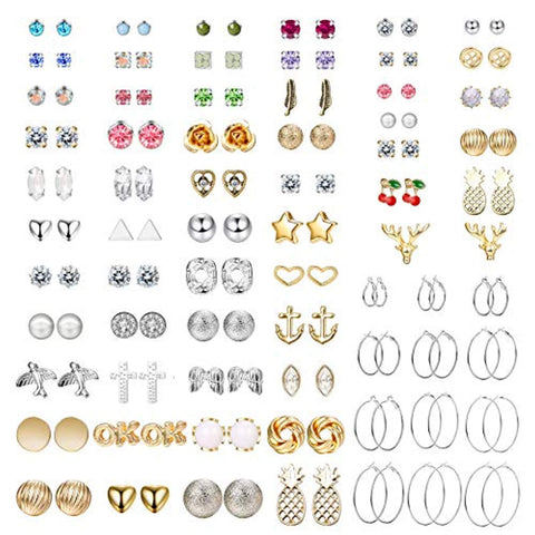 67 Pairs Stunning Assorted Multiple Earrings