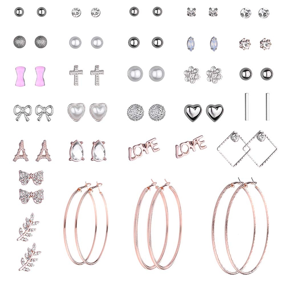 29 Pairs Assorted Multiple Earrings Set