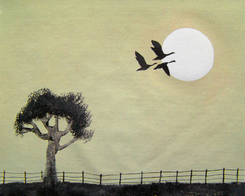 moonlight geese painting