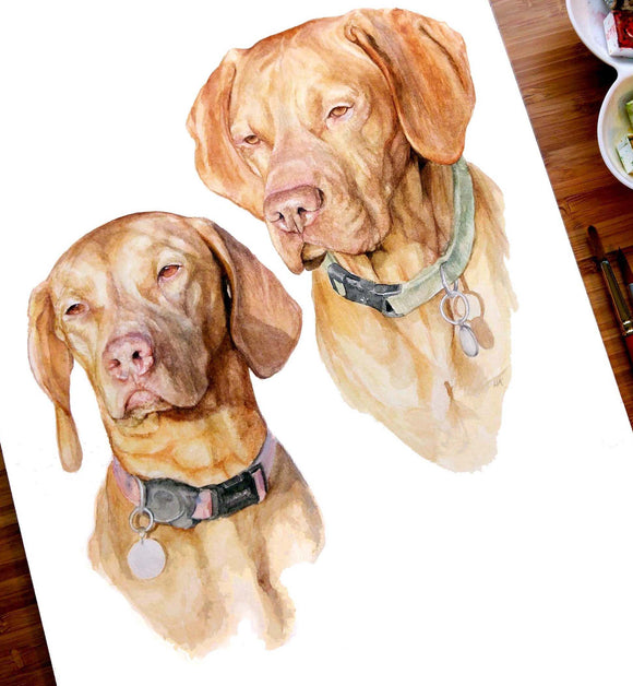 A3 Pet Portrait Example (2 subjects)