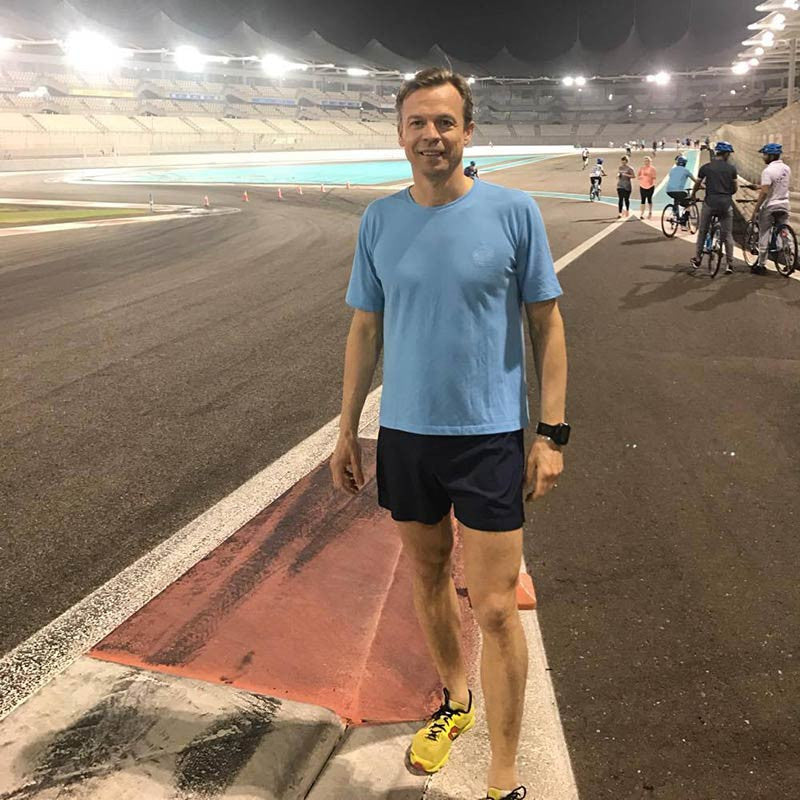 Running on the Yas Marina Circuit