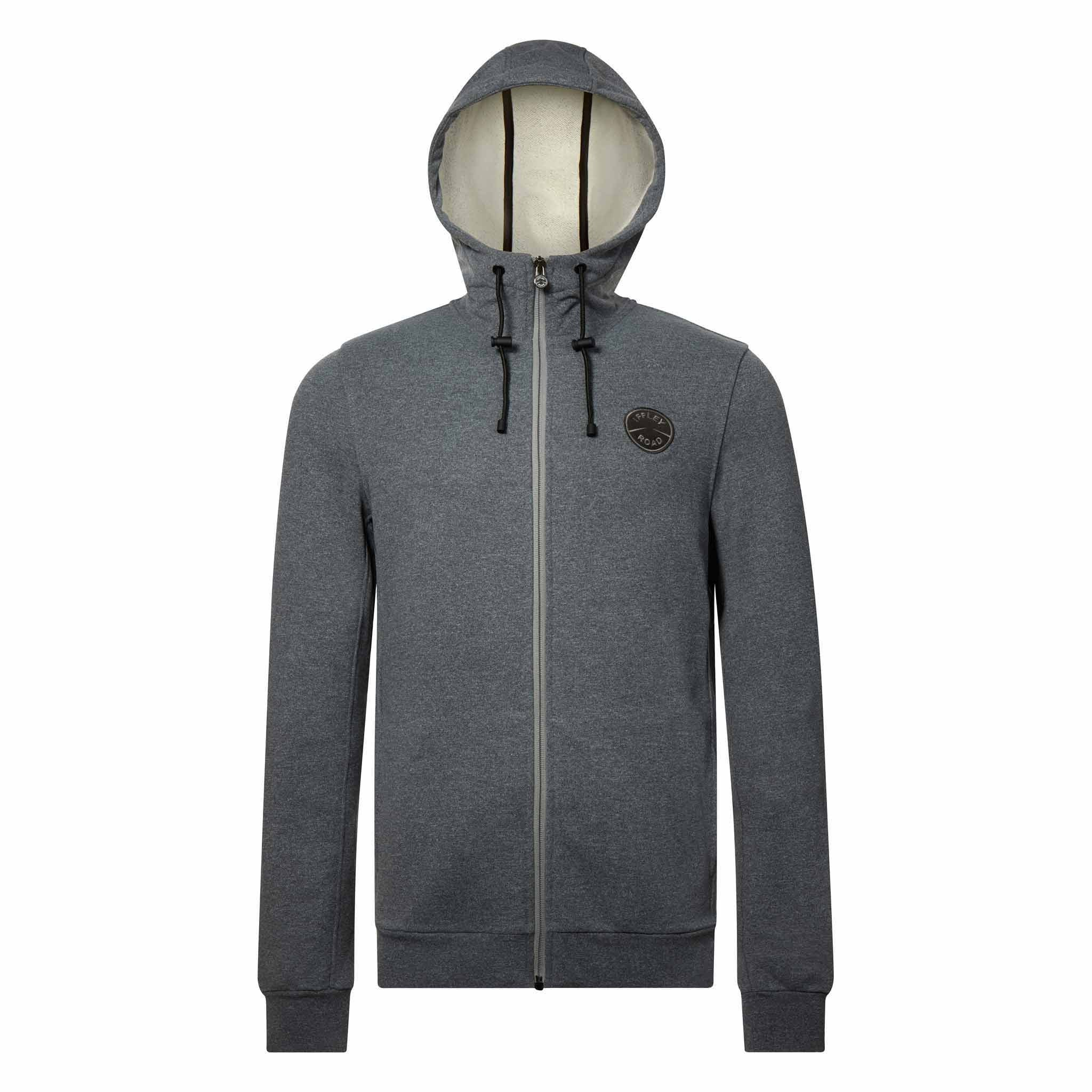 Fife pebble grey hooded, post-run sweatshirt