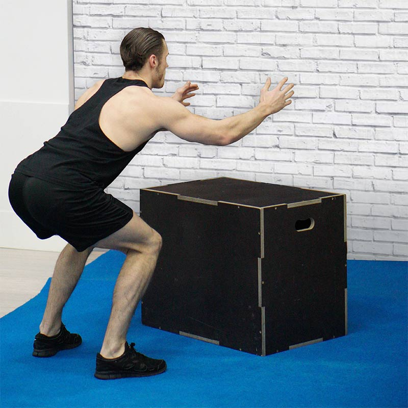 Gym training box jumps