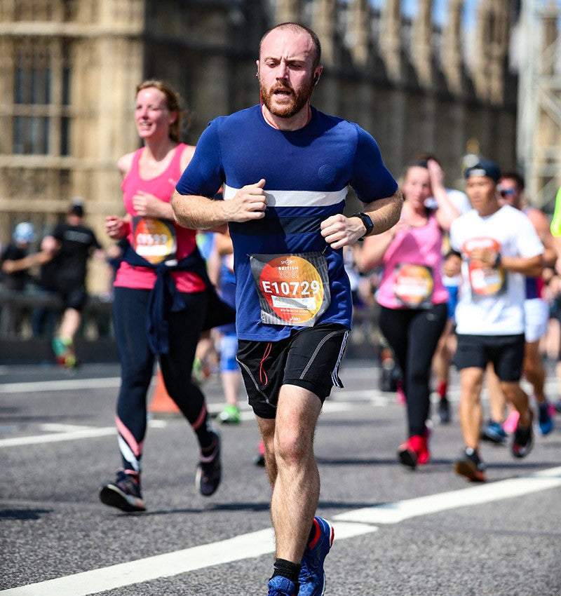 Tom racing the British 10k
