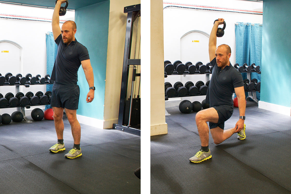 The Ultimate Lunchtime Workout - Overhead Lunge