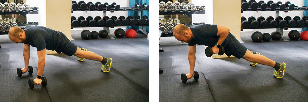 The Ultimate Lunchtime Workout - Renegade Rows