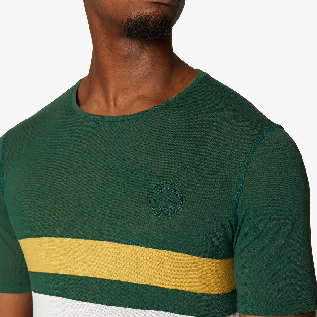 Cambrian Striped Drirelease® T-Shirt Racing Green