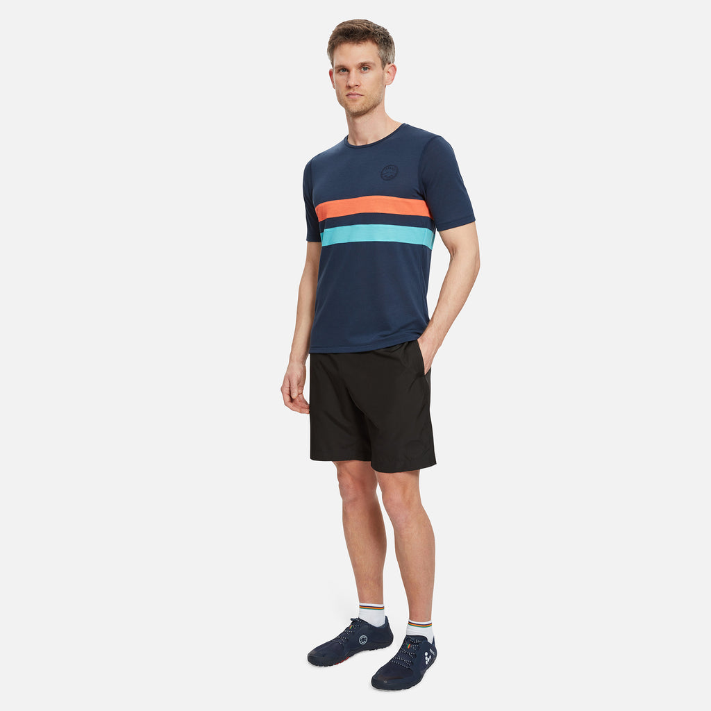 Cambrian Striped Drirelease® T-Shirt Night Sky