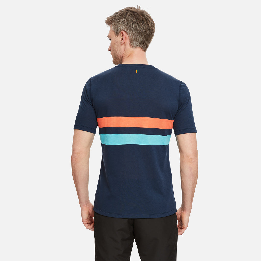 Cambrian Striped Drirelease T-Shirt Night Sky