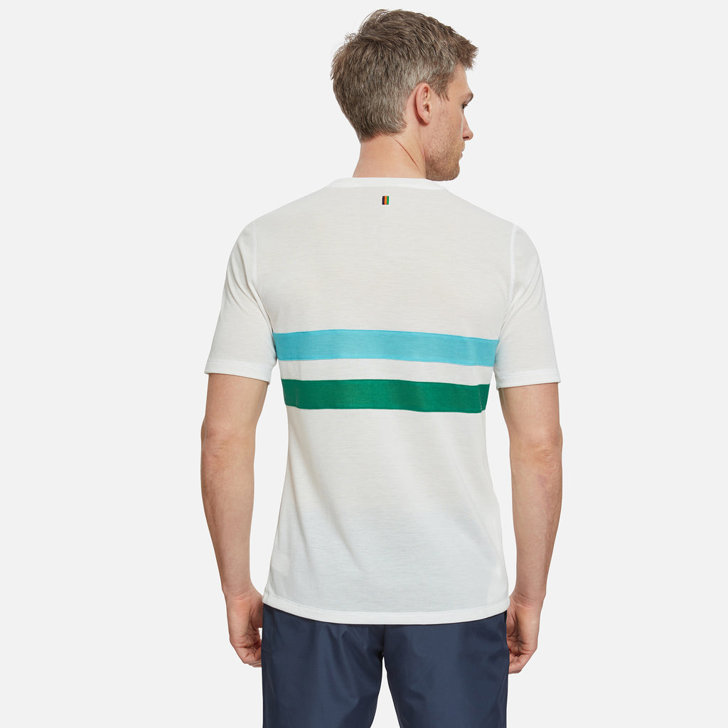 Cambrian Striped Drirelease T-Shirt Track White
