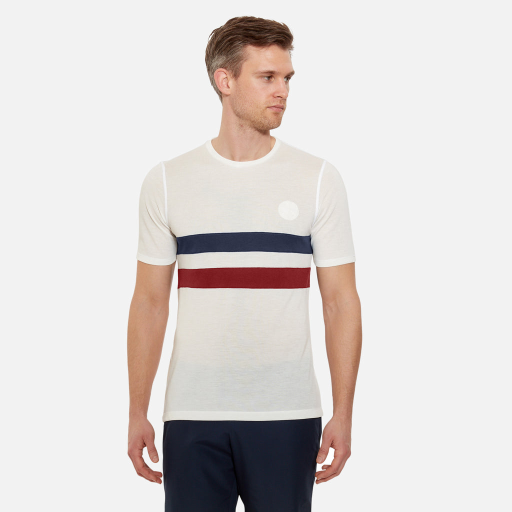 Cambrian Striped Drirelease® T-Shirt Track White