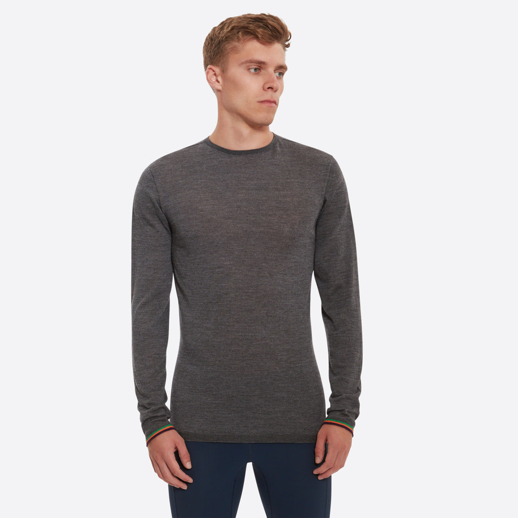 Malvern Merino Base Layer Pebble Grey
