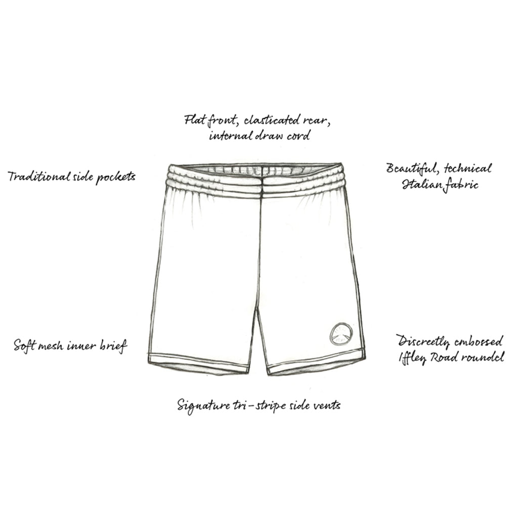 "Hampton 8"" Slim-Fit Shorts Marine Blue"