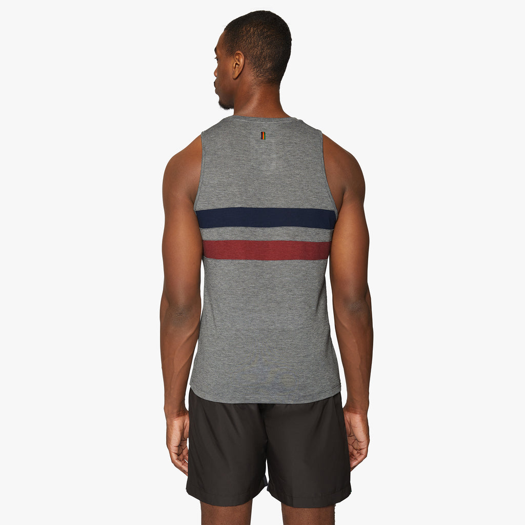 Lancaster Striped Drirelease® Vest Pebble Grey