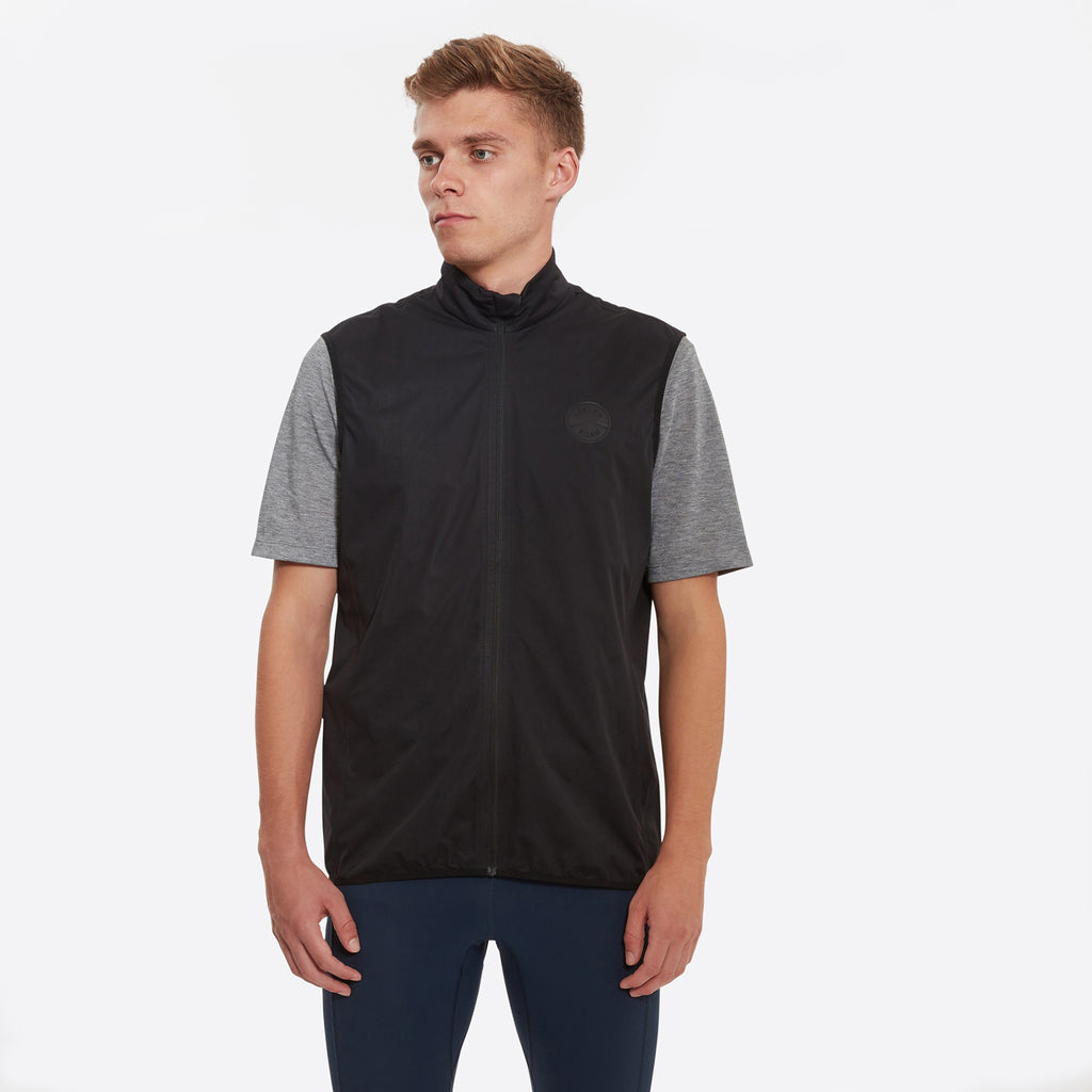 Sheen II Waterproof Gilet Black | Iffley Road