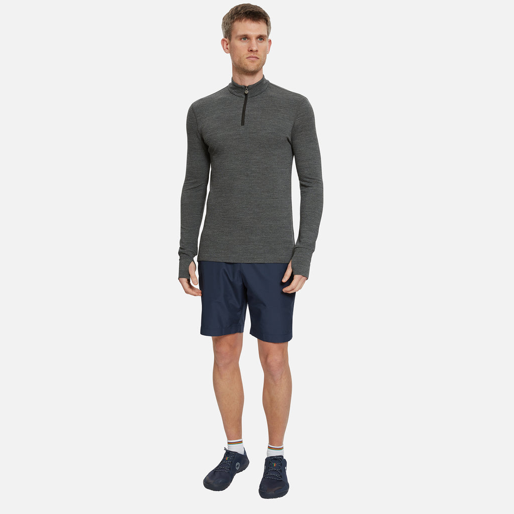 Thorpe Merino Half Zip Top Granite